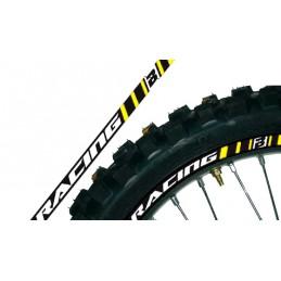 BLACKBIRD Wheel Graphic Stickers Yellow Universal