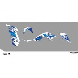 KUTVEK Rotor Graphic Kit Blue Yamaha Raptor 700