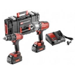 """FACOM Duo Pack 18V Impact Wrench 1/2""""-1625NM Rotary Drill 13MM"""