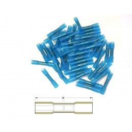 BIHR Heat-shrinkable Crimping Butt Splices Ø1,5/2,5mm² - 50pcs Transparent Blue