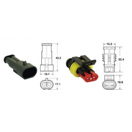 BIHR 2 plugs end set Generic Connectors - 5 sets