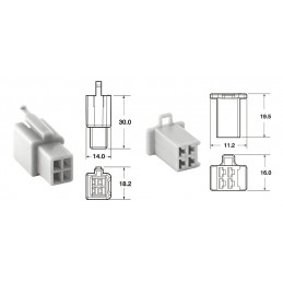 BIHR 4 plugs end set Connectors 110 ML OE Type Ø0,5mm²/0,85mm² - 5 sets