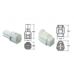 BIHR 4 plugs end set Connectors 090 SMTO series OE Type Ø0,85mm²/1,25mm² - 5 sets
