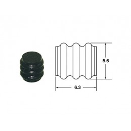 BIHR Plain Silicone Seals 090 SMTO Ø1.7mm Black - 50pcs
