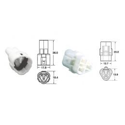 BIHR 3 plugs end set Connectors 090 SMTO series OE Type Ø0,85mm²/1,25mm² - 5 sets