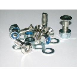 BIHR Sproket Bolts + Nuts + Washers Kit Countersunk Head M8x1,00x30mm Silver