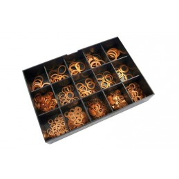 BIHR Copper Washers Set 400 pieces