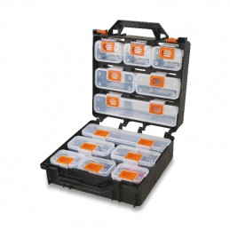 BETA Organizer Tool Case with 12 removable tote-trays