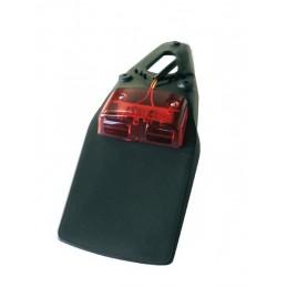 BIHR Rear Fender Extension Black w/ LED light