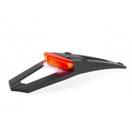POLISPORT RSP LED 3.0 Tail Light Black w/ Light & License Plate Light