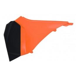 RACETECH Left Air Box Cover Orange/Black KTM