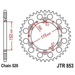 JT SPROCKETS Rear Sprocket 51 Teeth Steel Standard 520 Pitch Type 853