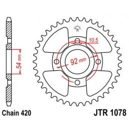 JT SPROCKETS Rear Sprocket 47 Teeth Steel Standard 420 Pitch Type 1078