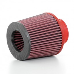 BMC Tapered Air Filter Rubber Sleeve Ø70mm Carbon Top
