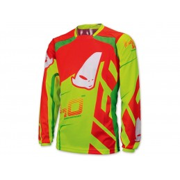 UFO 40th Anniversary Jersey Red/Yellow/Neon Green Size M