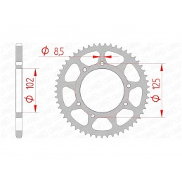 AFAM Rear Sprocket 59 Teeth Steel Standard 420 Pitch Type 41100