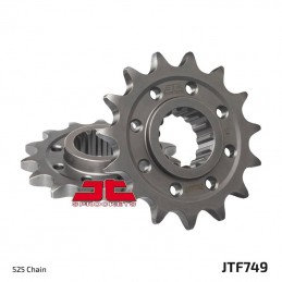 JT SPROCKETS Front Sprocket 15 Teeth Steel Standard 525 Pitch Type 749