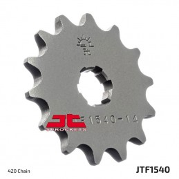 JT SPROCKETS Front Sprocket 14 Teeth Steel Standard 420 Pitch Type 1540