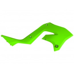 POLISPORT Radiator Covers Lime Green Kawasaki KX125/250
