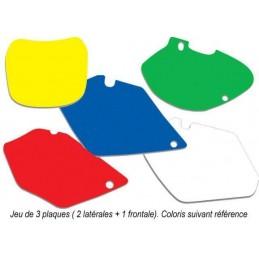 BLACKBIRD Plate Stickers Yellow Husqvarna TE/FE