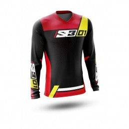 S3 Collection 01 Jersey Black/Red Size S