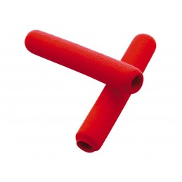 V PARTS Foam Lever Grips Red