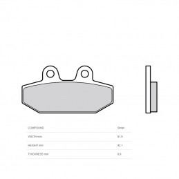 BREMBO Brake Pads 07HD23SP Sintered Metal