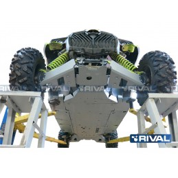 RIVAL Complete Skid Plate Kit Aluminum Can Am Maverick