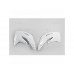 UFO Radiator Covers White Honda CR85R/85RB