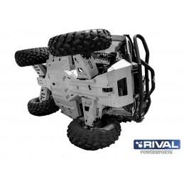 RIVAL Front Arm Guard Kit Aluminum Polaris Sportsman