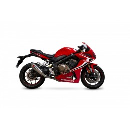 SCORPION Serket Taper Full Exhaust System Stainless Steel/Titanium Muffler/Black ABS End Cap Honda CBR650R
