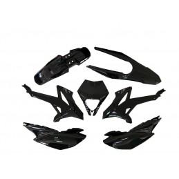 V PARTS Plastics Kit OEM Type Black Rieju MRT