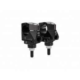 GILLES TOOLING 2DGT Adjustable Bar Mounts Black Yamaha FZ1 N/S