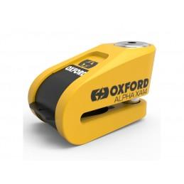 OXFORD Alpha XA14 Alarm Disc Lock Ø14mm Stainless Steel Black/Yellow