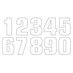 TECNOSEL Race Number 8 20x13cm White Set of 3