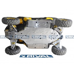 RIVAL Complete Skid Plate Kit Aluminum Can Am