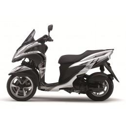 KUTVEK Velocity Graphic Kit White/Black Yamaha Tricity 125