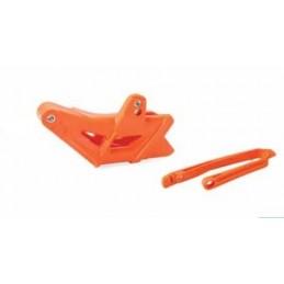 POLISPORT Chain Guide + Slider Kit Orange KTM