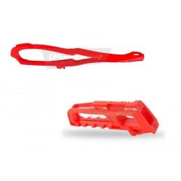 POLISPORT Chain Guide + Slider Kit Red Honda