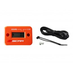 SCAR Hour-meter with Wire Velcro Fixing Orange