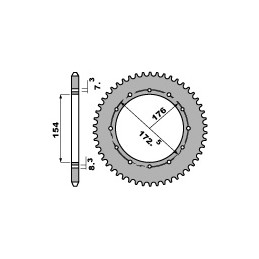 PBR Non-Drilled Rear Sprocket 47 Teeth 420 Pitch Type 2S