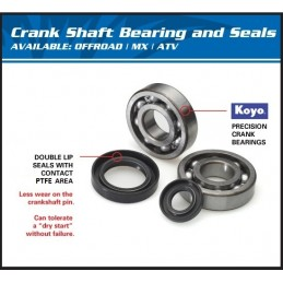 ALL BALLS Crankshaft Bearing Kit Yamaha PW50