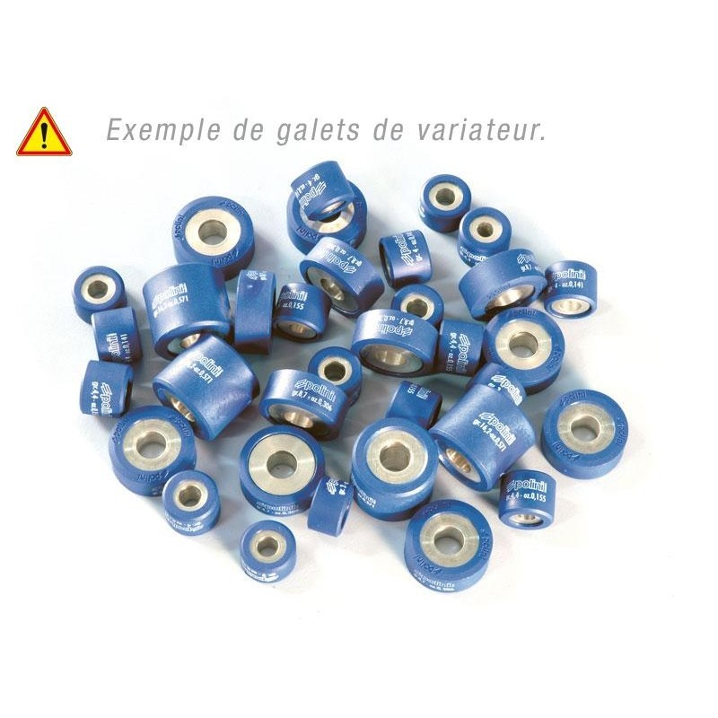 Set of 6 POLINI Rollers 19 x 17mm, 10.2g