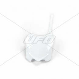 UFO Front Number Plate White Honda CRF250R/450R