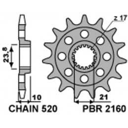 PBR Steel Standard Front Sprocket 2260 - 520