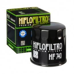HIFLOFILTRO HF740 Oil Filter Black Yamaha