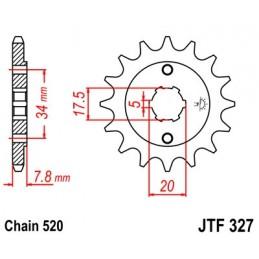 JT SPROCKETS Front Sprocket 13 Teeth Steel 520 Pitch Type 327 Honda