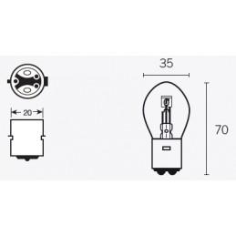 V PARTS B35 Signal Lamp 6V/35/35W Base BA20d 10pcs