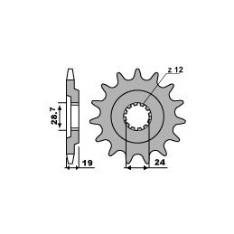 PBR Front Sprocket 15 Teeth Steel Standard 630 Pitch Type 630 Kawasaki GPZ1100