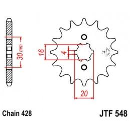 JT SPROCKETS Front Sprocket 13 Teeth Steel 428 Pitch Type 548 Yamaha TT-R125